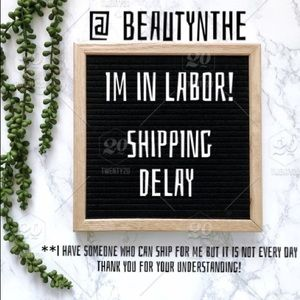 Small shipping delay thank you for your business